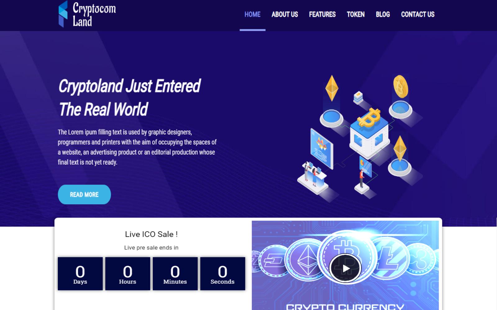 Cryptocom land - All Crypto Currency Wordpress Theme