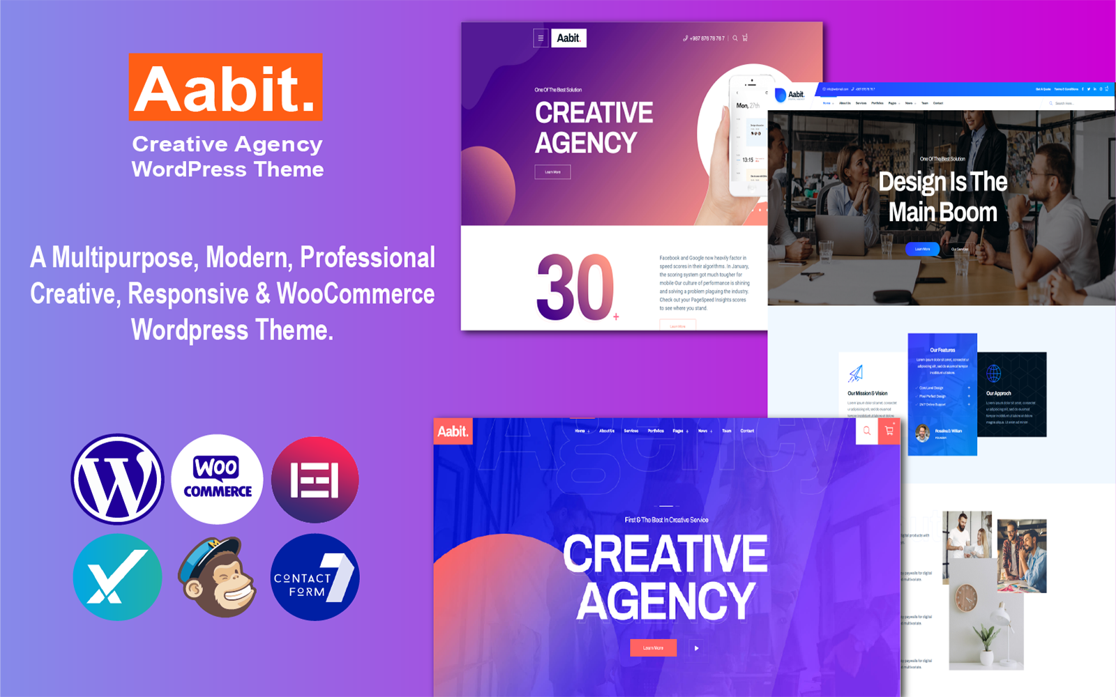 Aabit - Startup & Multipurpose WordPress Theme