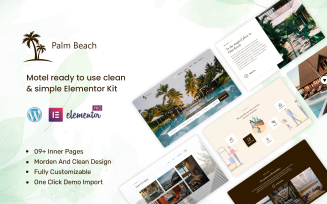 Palm Beach - Motel ready to use clean & simple Elementor Kit