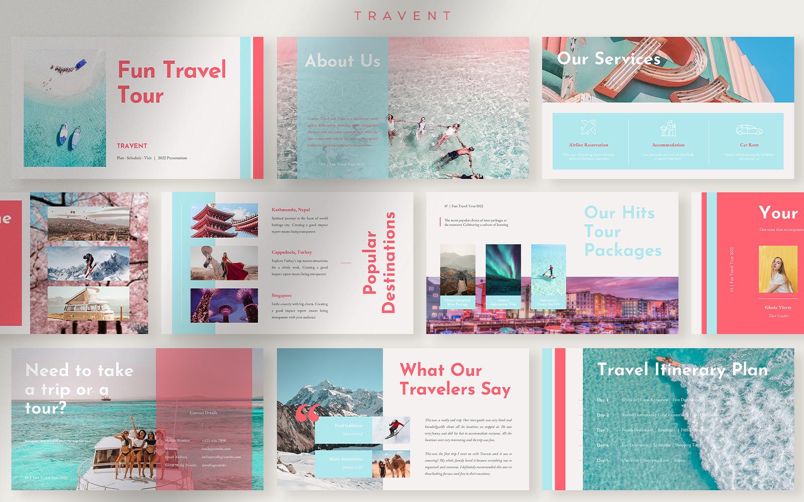 Travent - Refreshing Fun Travel Tour Presentation