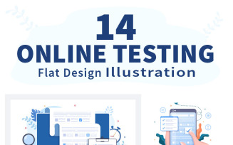 14 Online Testing For E-learning and Education Concept