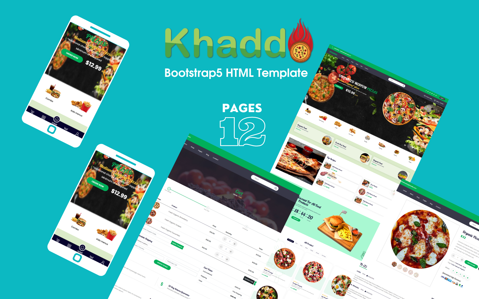 Khaddo - Restaurant & Food Delivery Bootstrap5 HTML Website template
