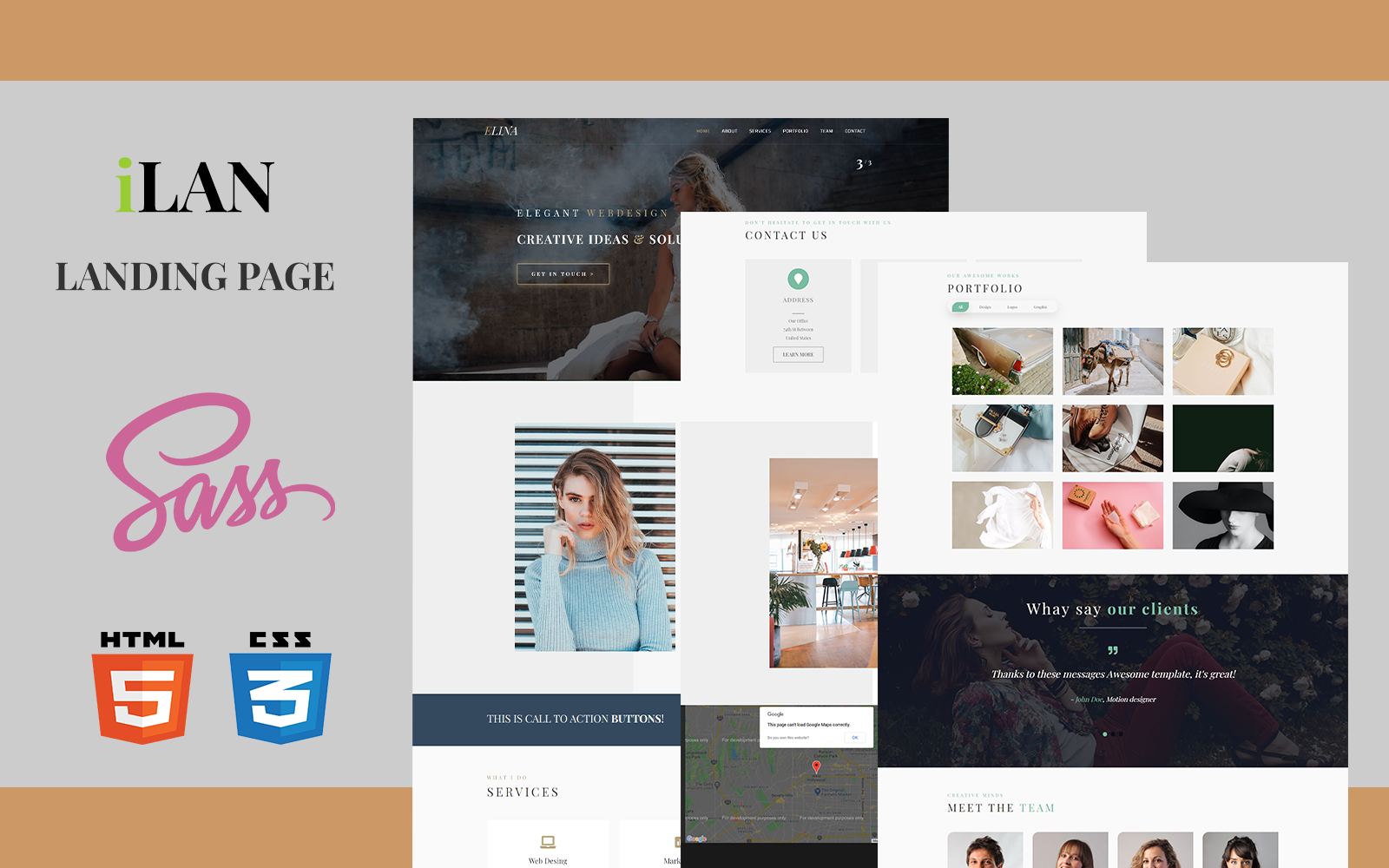 ILAN - HTML Landing Page Template