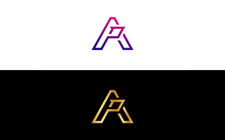 AP Letter Logo Design Vector Template