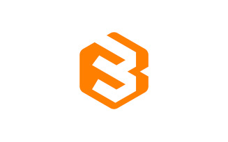 B Letter Hexagon Logo Design Vector Template