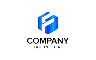 F Letter Hexagon Logo Design Vector Template