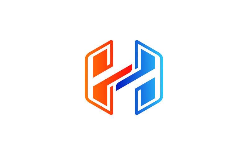 H Letter Hexagon Logo Design Vector Template Logo Template