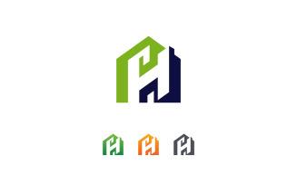 H Letter Home Logo Design Vector Template