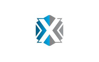 Letter X Logo Design Hexagon Vector