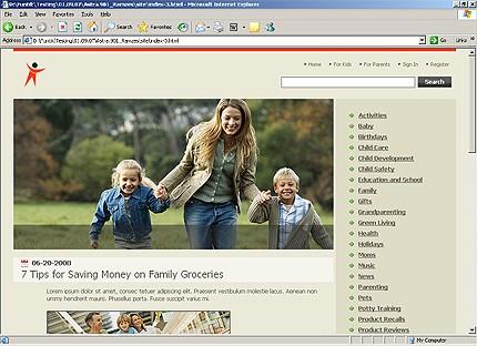 Page d'accueil HTML du kit graphique #20650