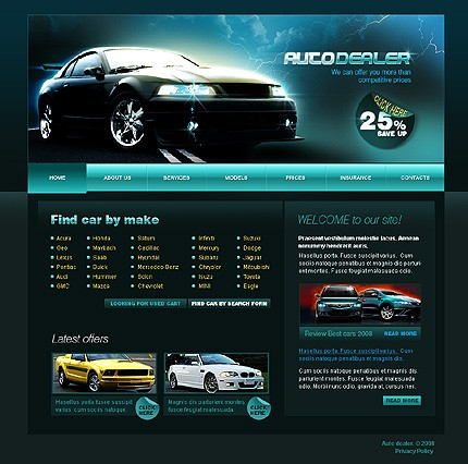 Web Design Ieftin dealer auto