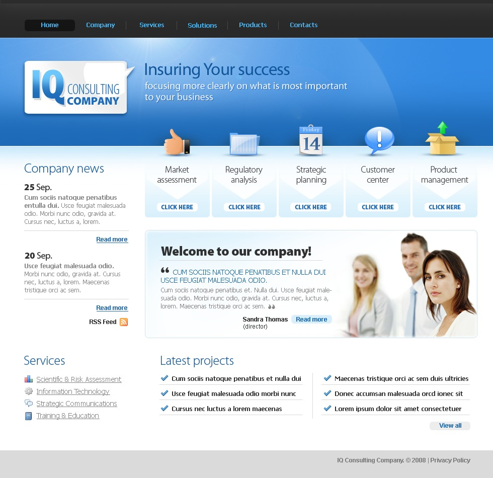 Consulting website template 20668 for Consulting website