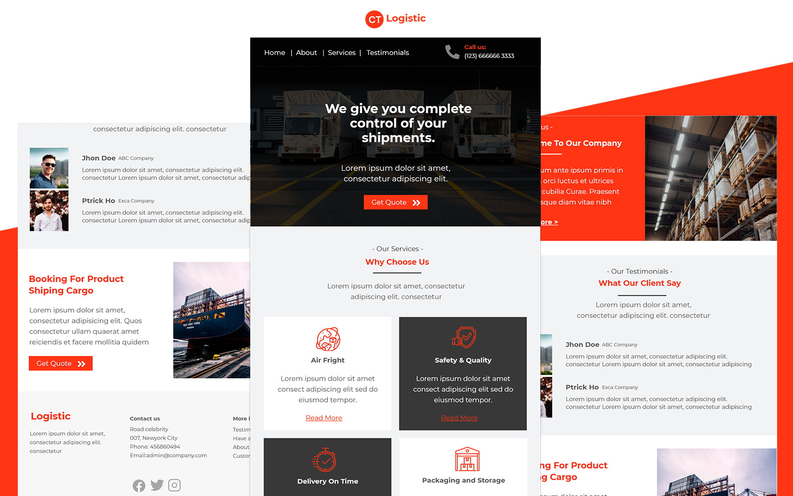 Logistic – Multipurpose Logistic Delivery Email Template Responsive