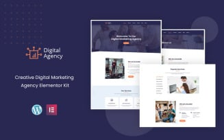 Digital Agency - Marketing Services Ready to Use Elementor Kit