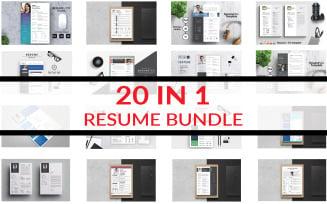 Resume Bundle Printable Templates
