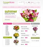 Flowers ZenCart  Template 20744