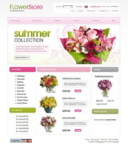 ZenCart Template 20744 Main Page Screenshot