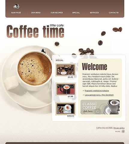 Creare site cafenea