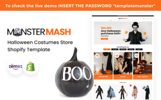 Monster Mash - Halloween Costumes Store Shopify Template