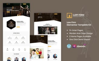 Law-firm - Law And Lawyer Ready to Use Elementor Kit