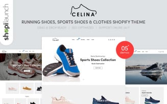 Celina - Running Shoes & Sports Clothes Shopify Theme