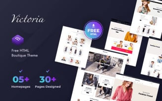 Free Victoria HTML Template Website for Online Fashion Store