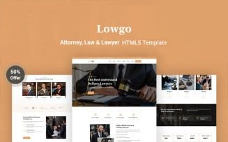 Lowgo – Attorney, Law & Lawyer Responsive Website Template