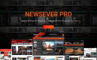 Newsever Pro – An ideal WordPress Theme for Best Responsive News and Magazine Sites