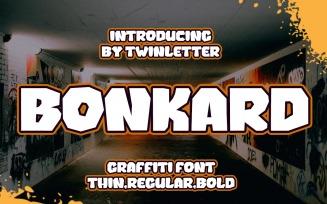 Bonkard Graffiti Display Font