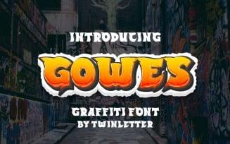 GOWES Graffiti Display Font