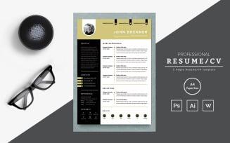 Jhon – Web Designer Resume Template