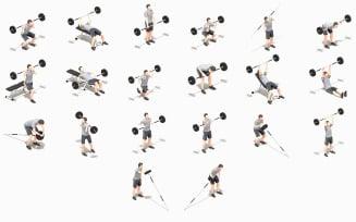 Barbells Worksout Animation Bundle