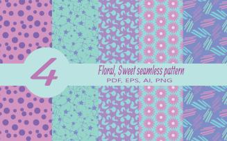 Free Floral Sweet Seamless Pattern By Zarbagul