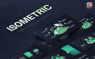 Isometric Vector Asset Creative PowerPoint Template