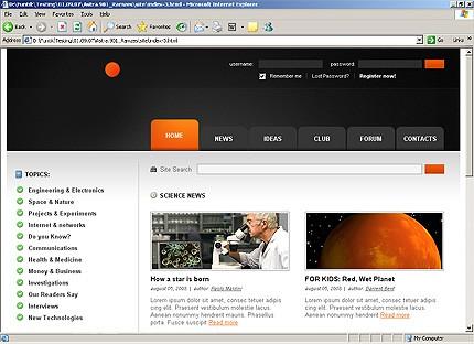 Page d'accueil HTML du kit graphique #20880