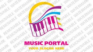 Music Portal Logo Template vlogo