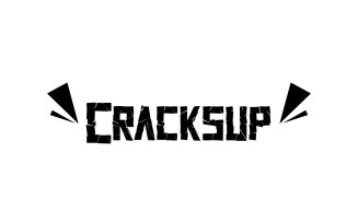 Cracksup cracked wrecked Font
