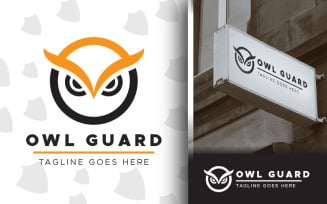 Free Guard Owl Logo With Angry Bird Face