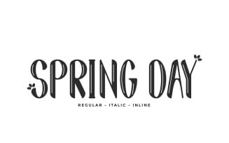 Spring Day Decorative Font
