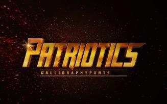 Patriotics Super Hero Font