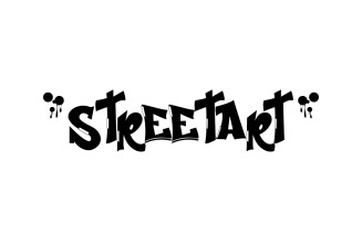 Streetart Graffiti Display Font