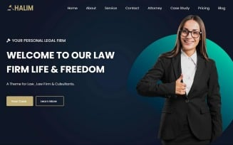 Halim - Law Firm Landing Page Template
