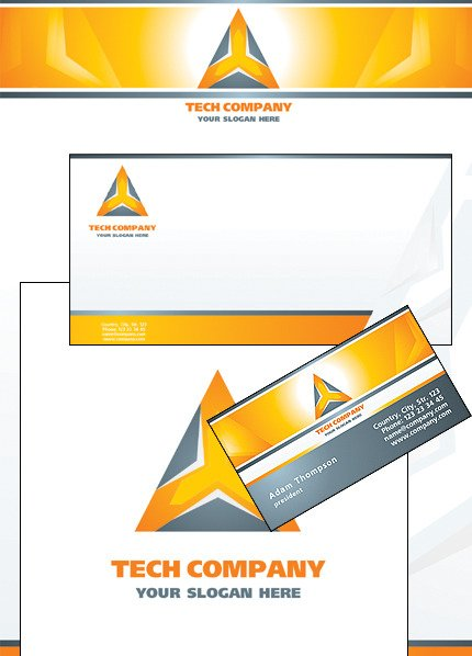 Industrial Corporate Identity Template Vector Corporate Identity preview