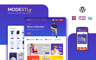 Modestly - An Ecommerce WordPress Elementor Template Kit