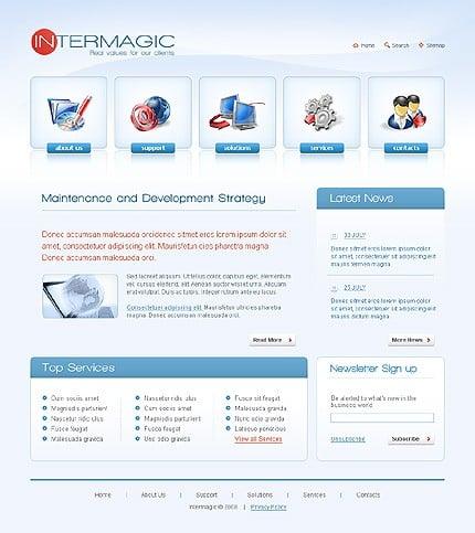 Многостраничный CSS-шаблон для сайта с Flash-анимацией (21009)