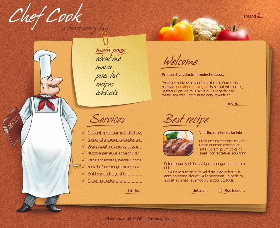 Cook Templates  Chef Templates