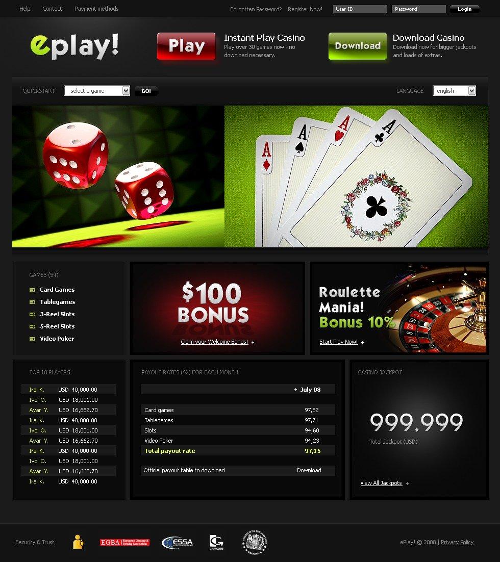Casino Website Software