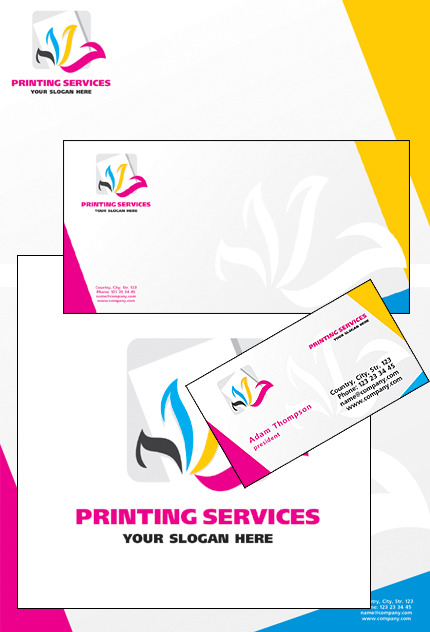 Print Shop Corporate Identity Template Vector Corporate Identity preview