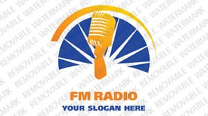 Radio Website Logo Template vlogo