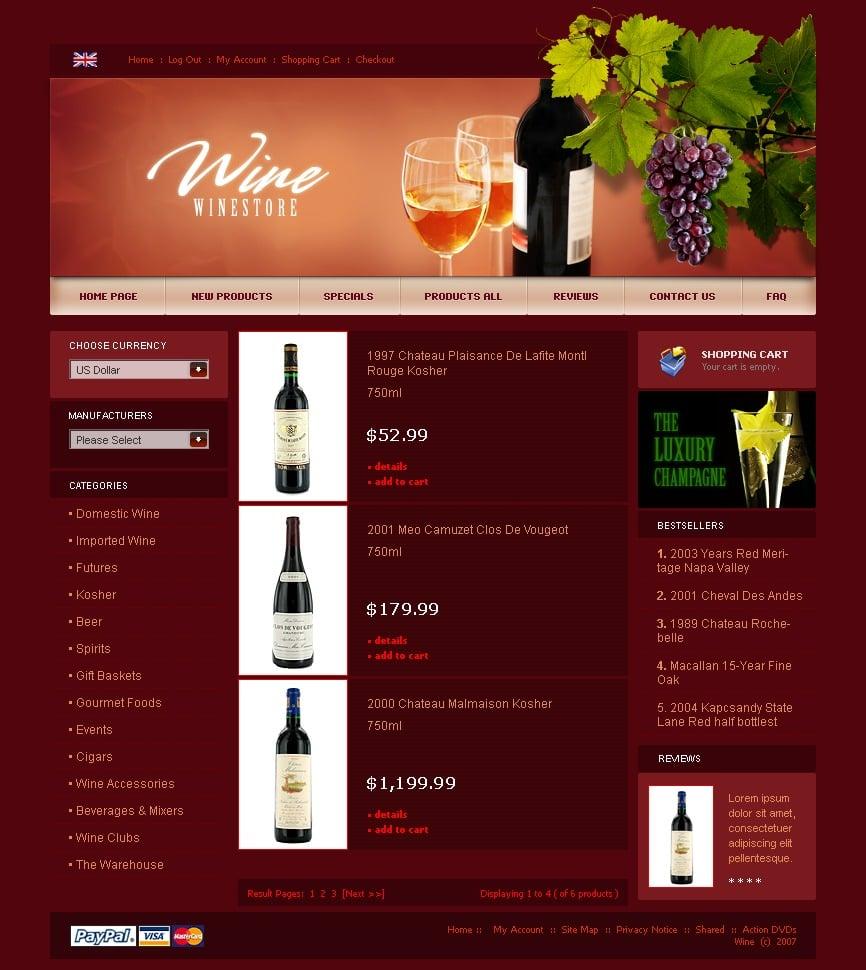 Wine responsive zencart template 21001 wine responsive zencart template pronofoot35fo Gallery